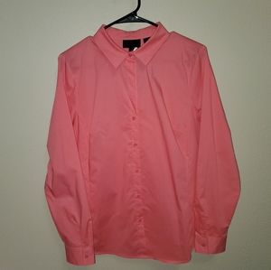 Pink Button-up Professional Blouse